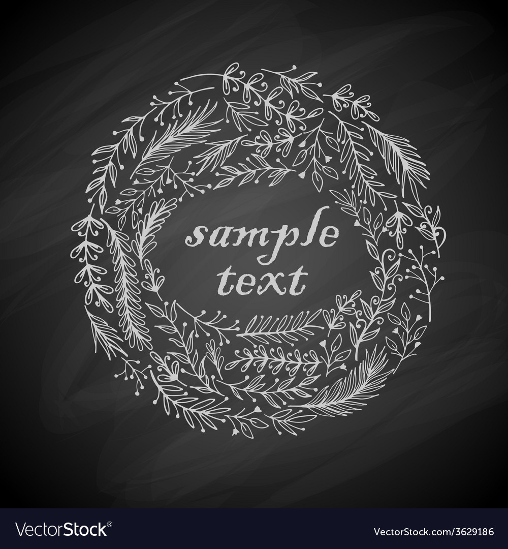 Wreath frame vector image