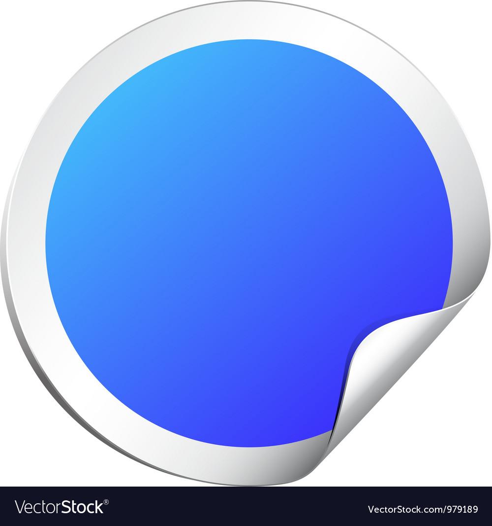 Blank round sticker vector image