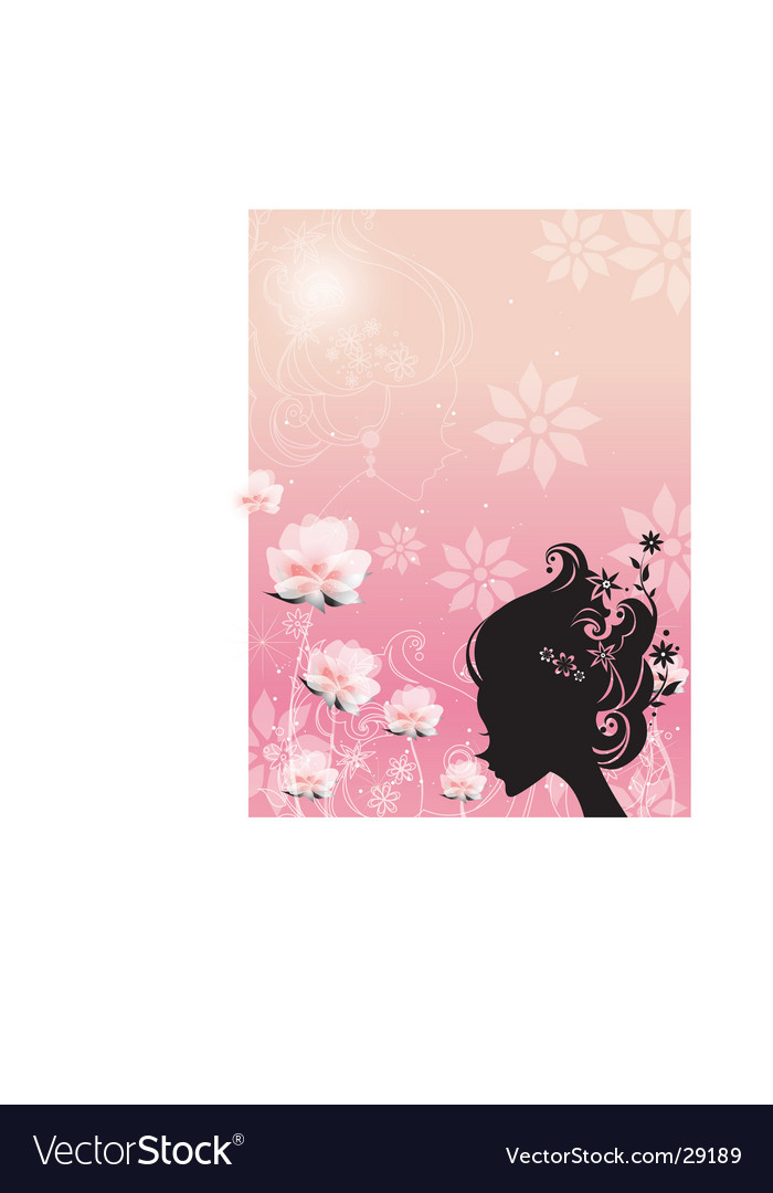 Silhouette girl vector image