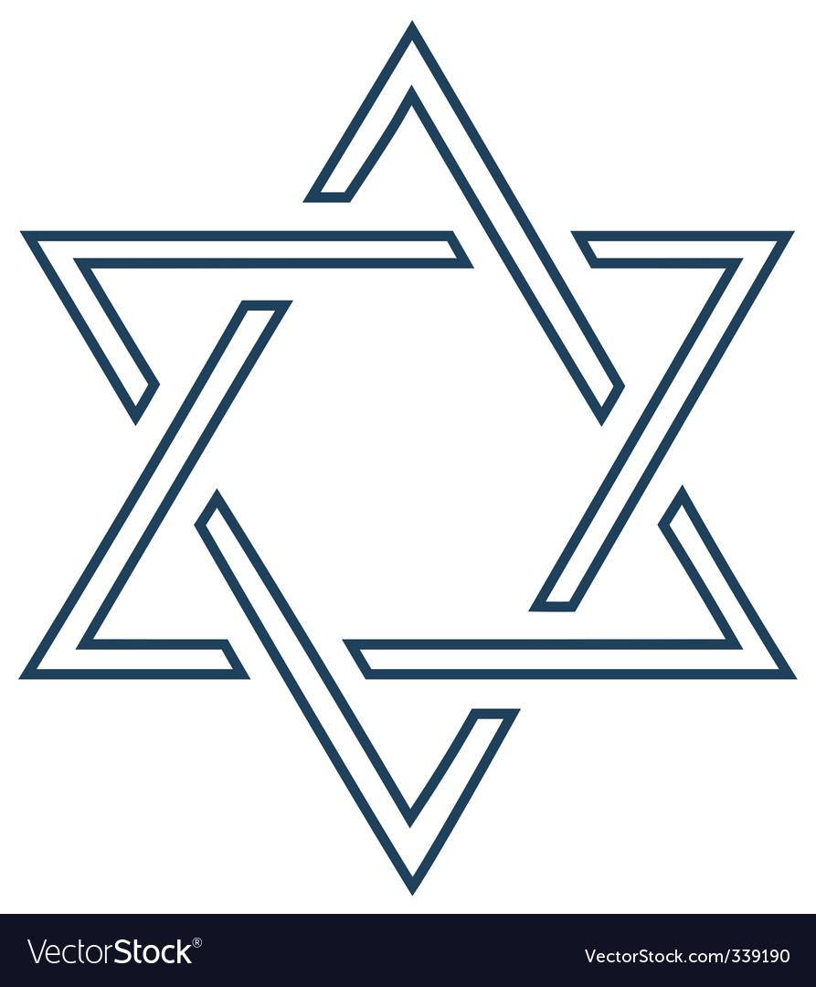 Jewish mage David star design vector image