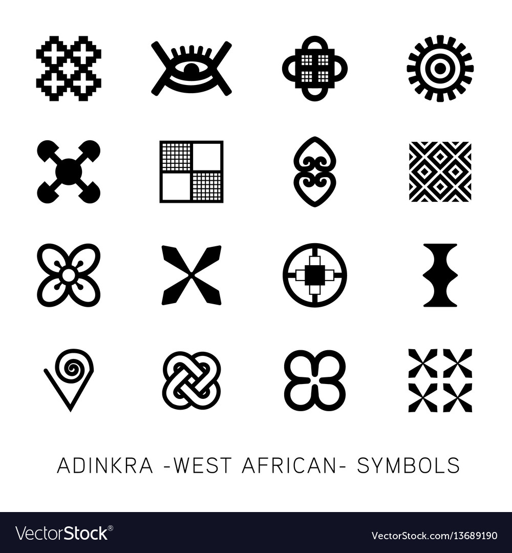 Set of akan and adinkra west african symbols vector image set of akan and adinkra west african symbols vector image buycottarizona