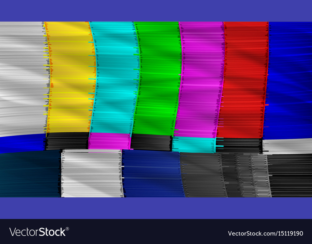 Television screen with static noise caused by bad vector image
