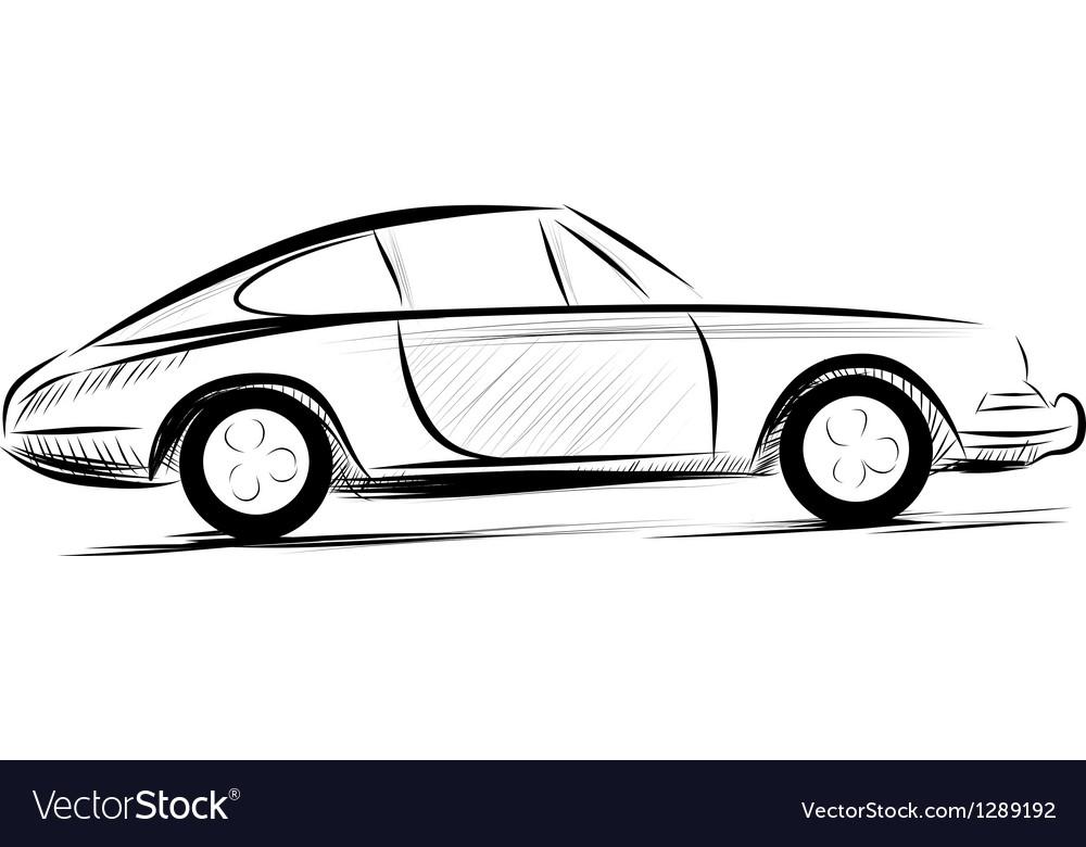 Line Art Vector Design : Car racing auto logo line art royalty free vector image