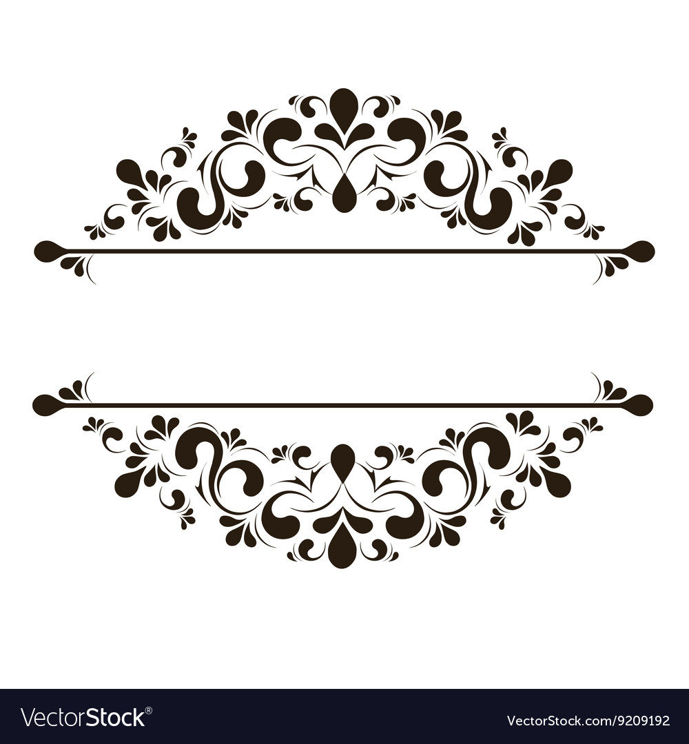 Design Elements For Page Border Royalty Free Vector Image