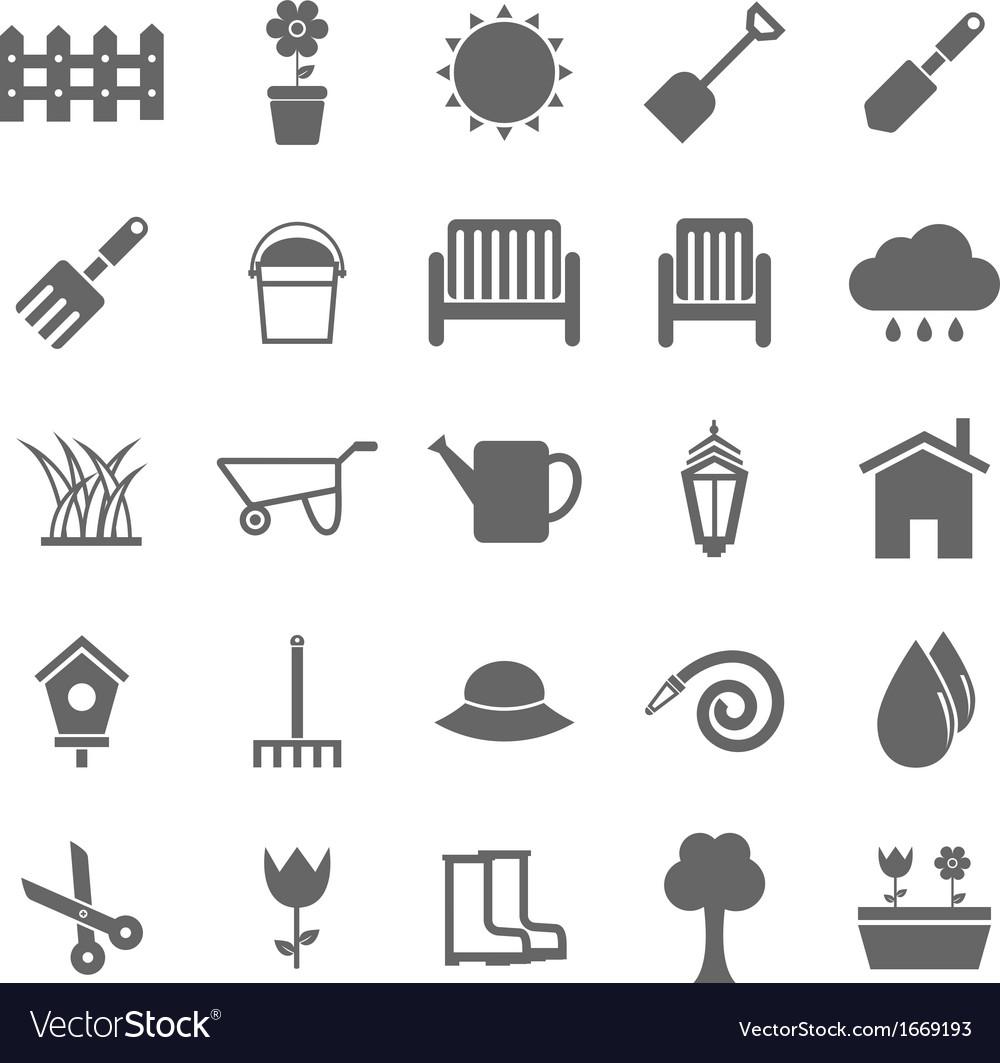 Gardening icons on white background vector image