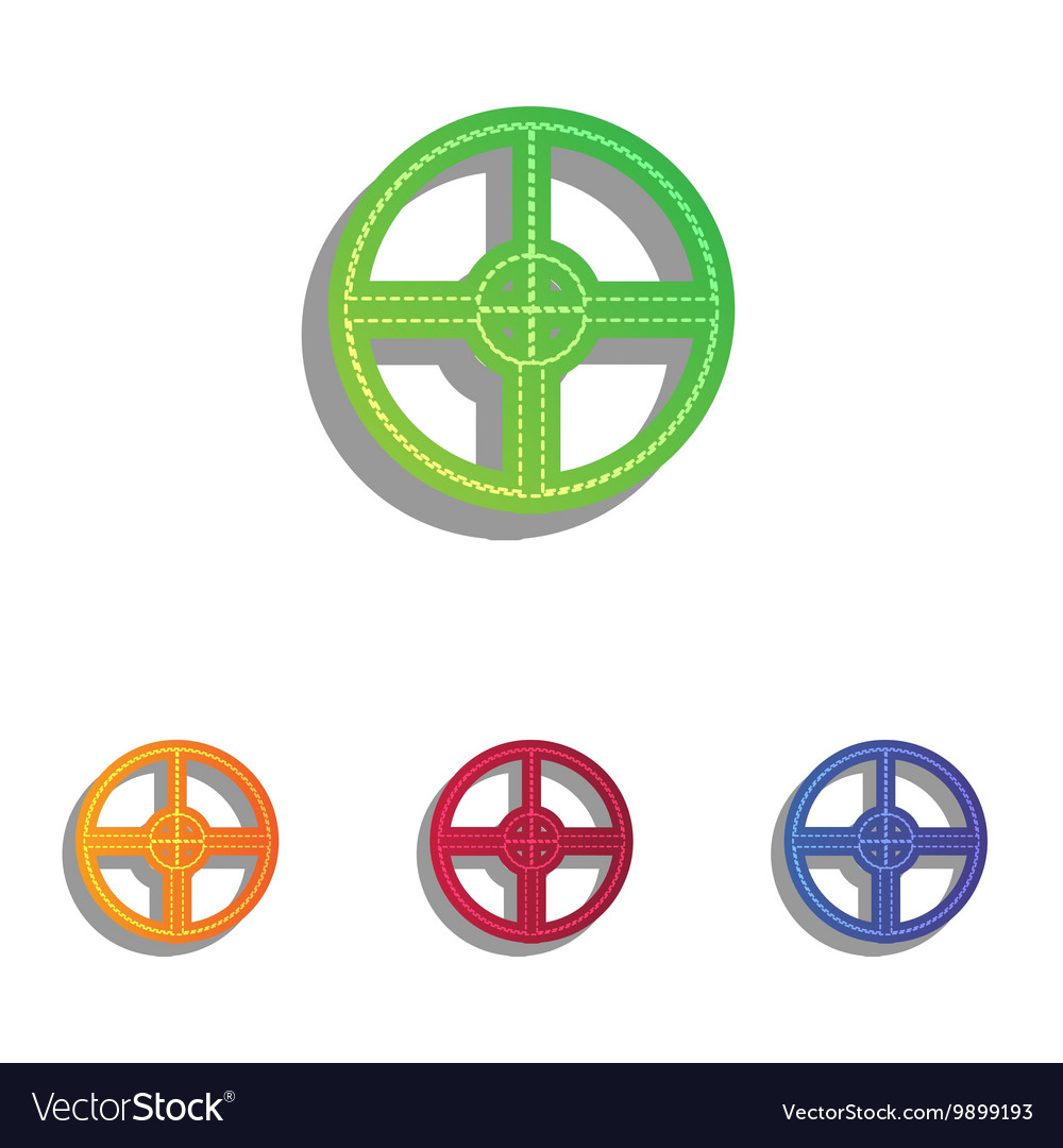 Sight sign Colorfull applique icons vector image
