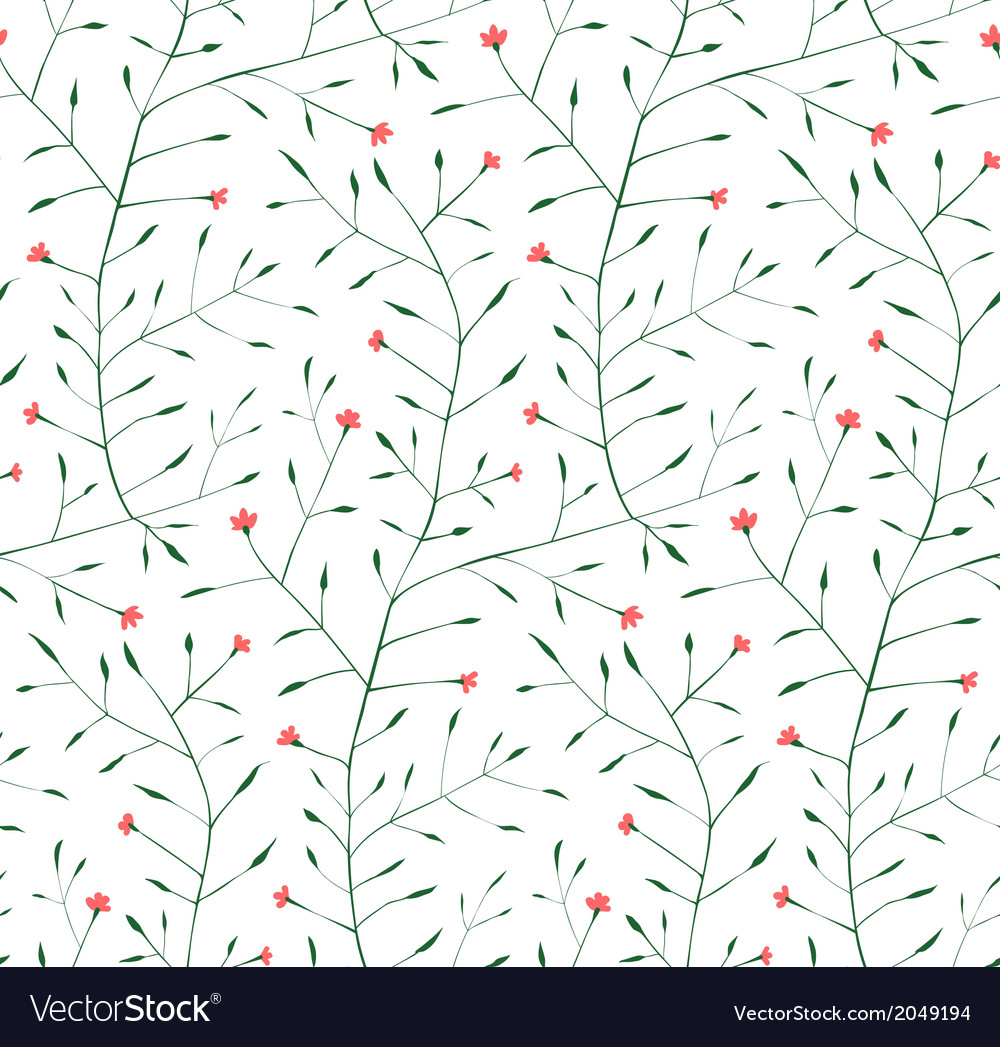 Fine Floral Ornament Seamless Pattern Background vector image