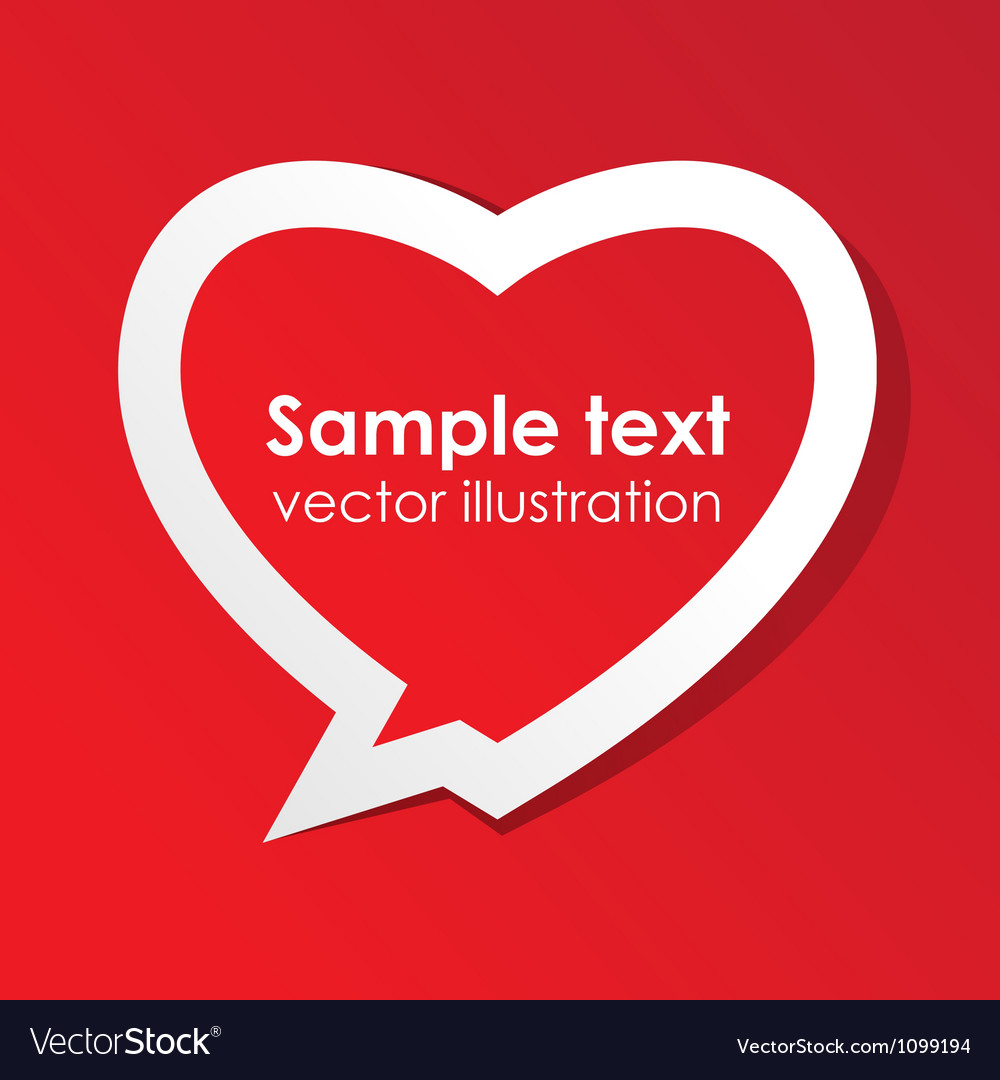 Love valentine speech bubble vector image