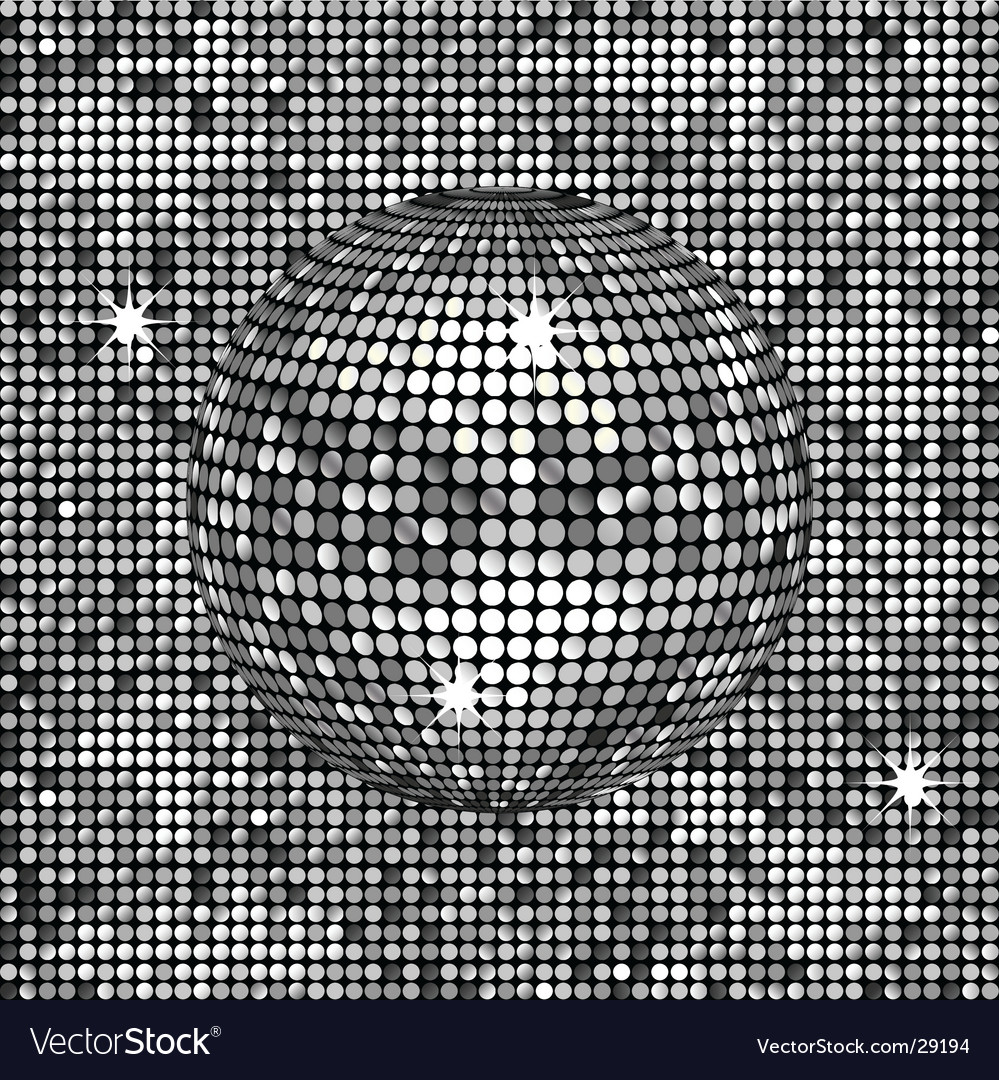 Silver abstract disco background vector image