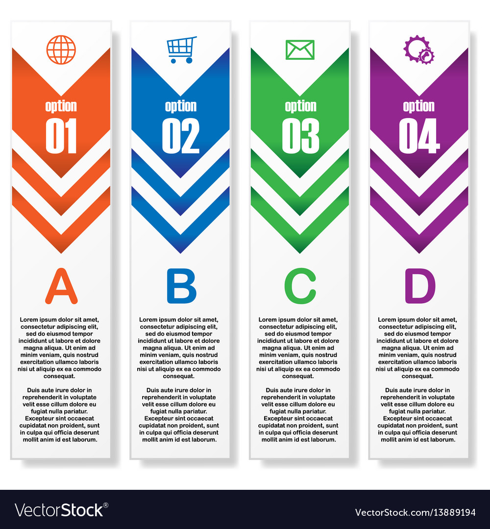 Stripes infographic with text vector image