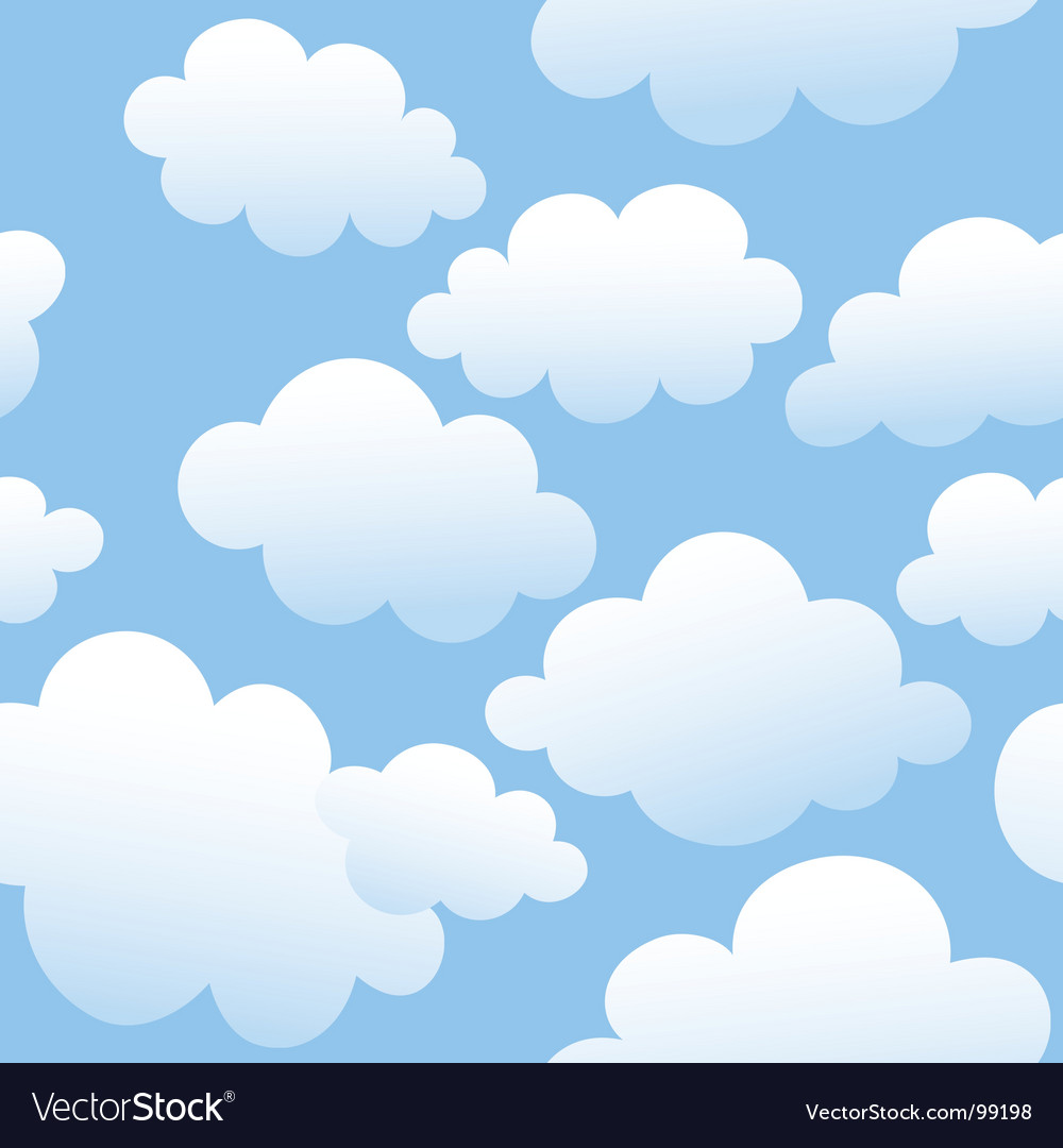Cloudy seamless background vector image