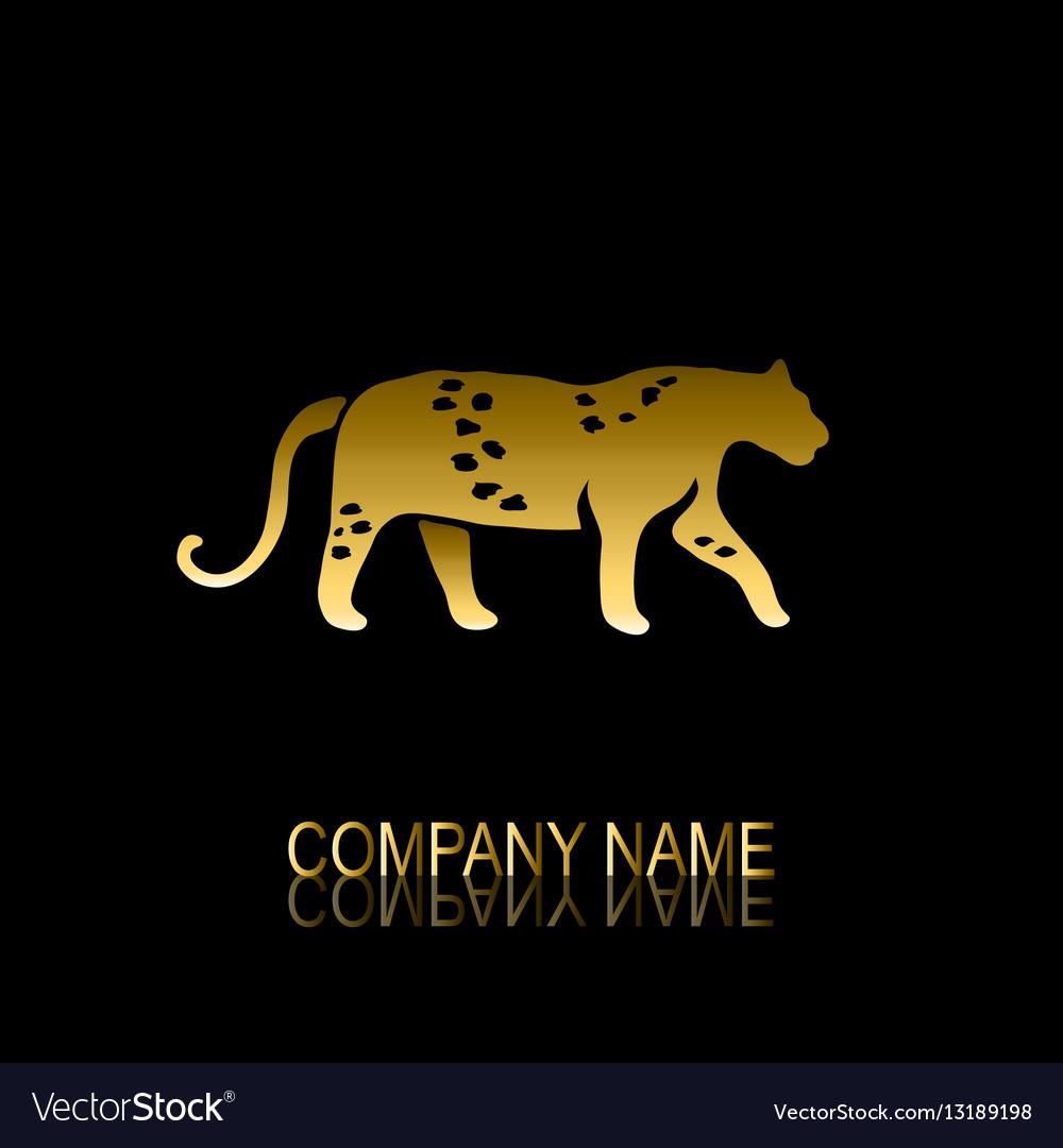Golden leoprard symbol vector image