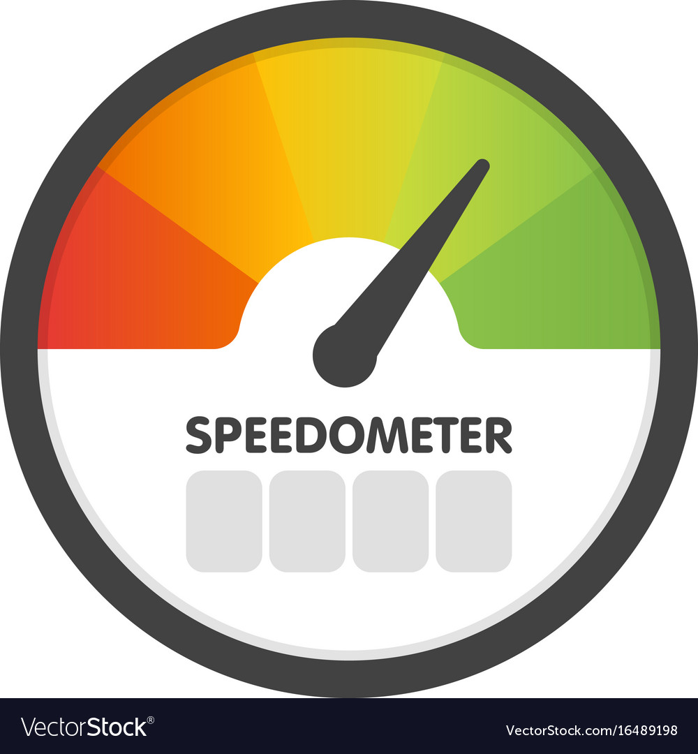 Round speedometer fast speed template vector image