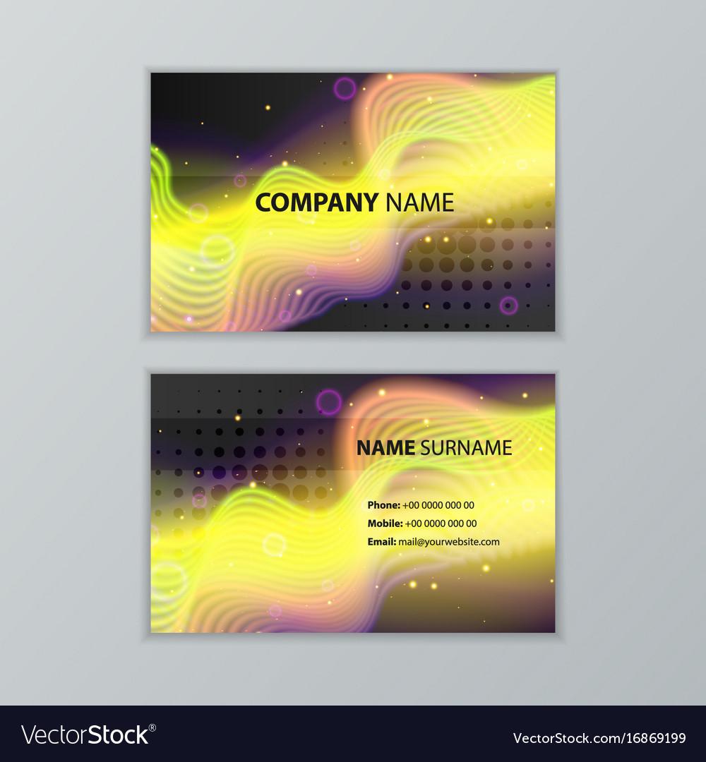 Dark Modern Business Card Design Template Vector Image - Modern business card design templates