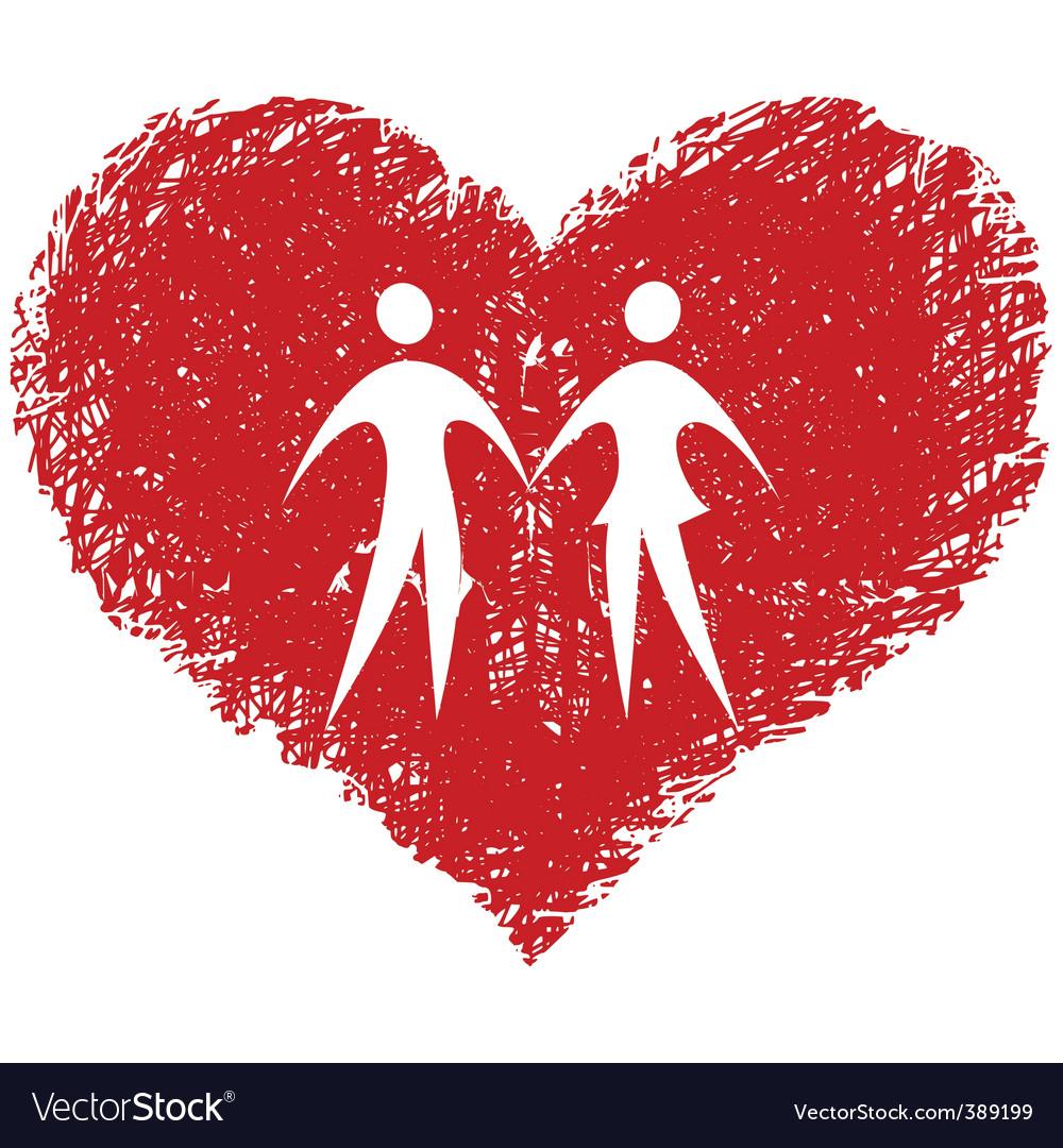 Love couple vector image