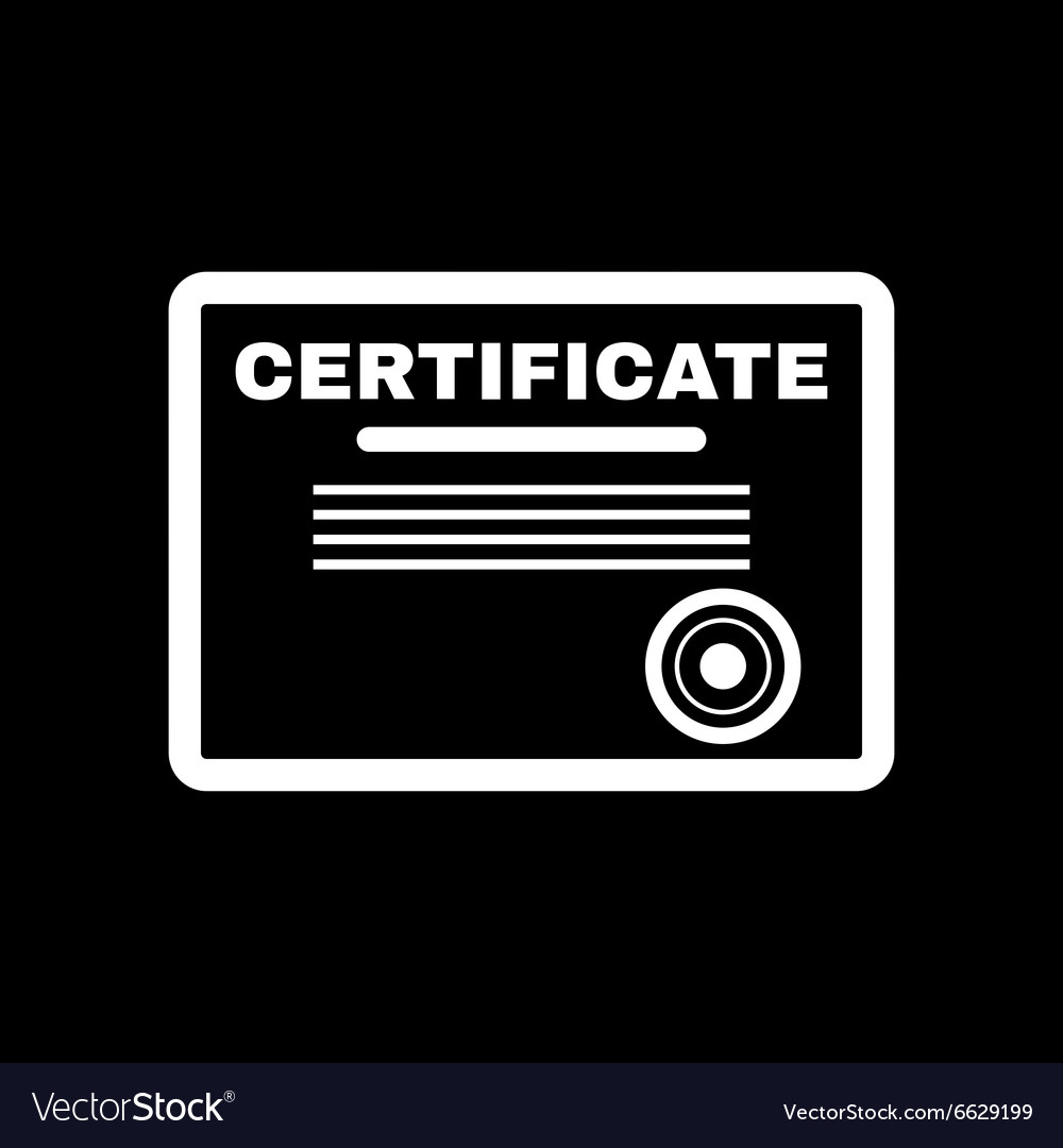 The certificate icon diploma symbol flat vector image the certificate icon diploma symbol flat vector image buycottarizona