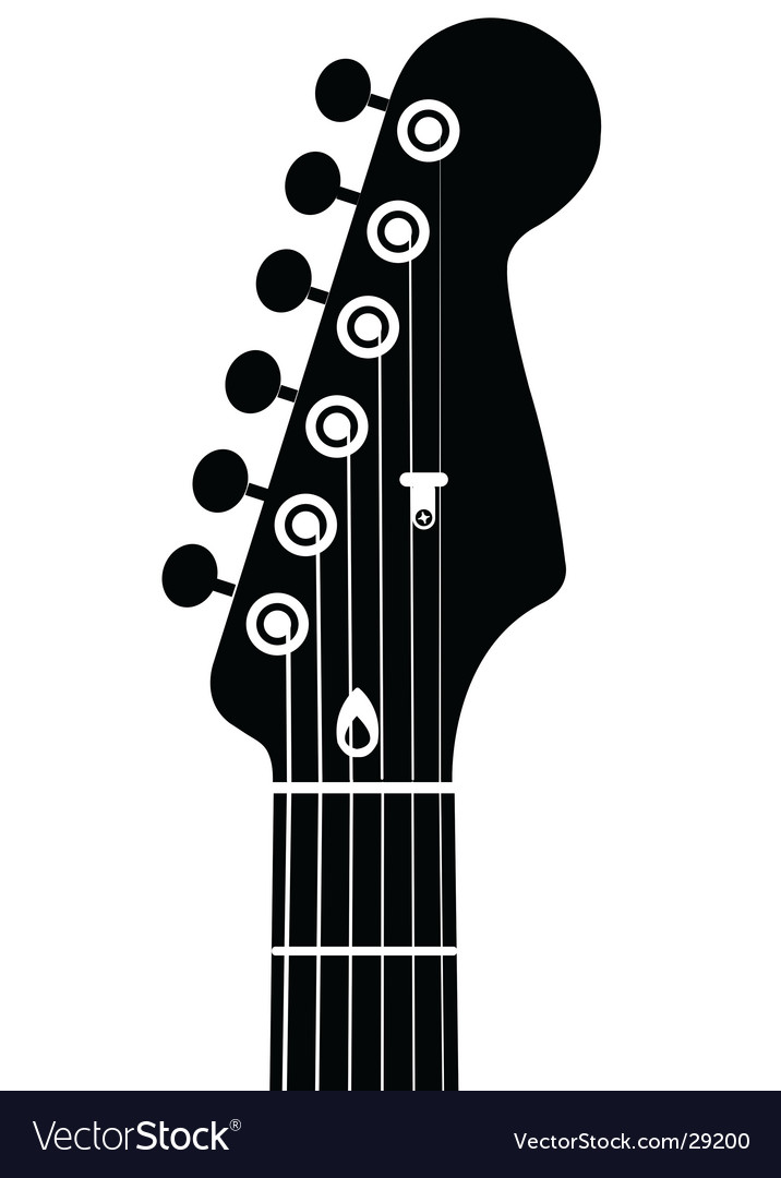 Guitar head vector image