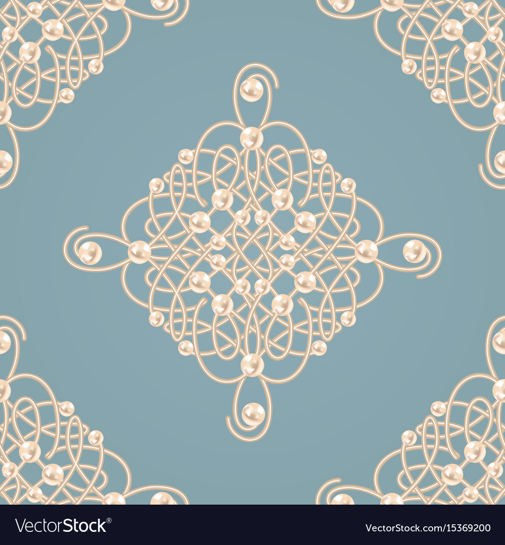 Seamless pattern with ellegant golden knot sign vector image