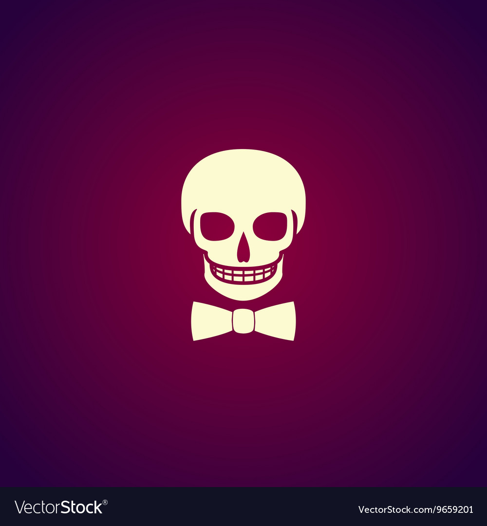 Skull icon isolated vector image