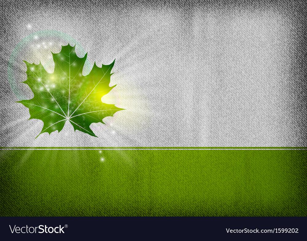 Background autumn grey green vector image