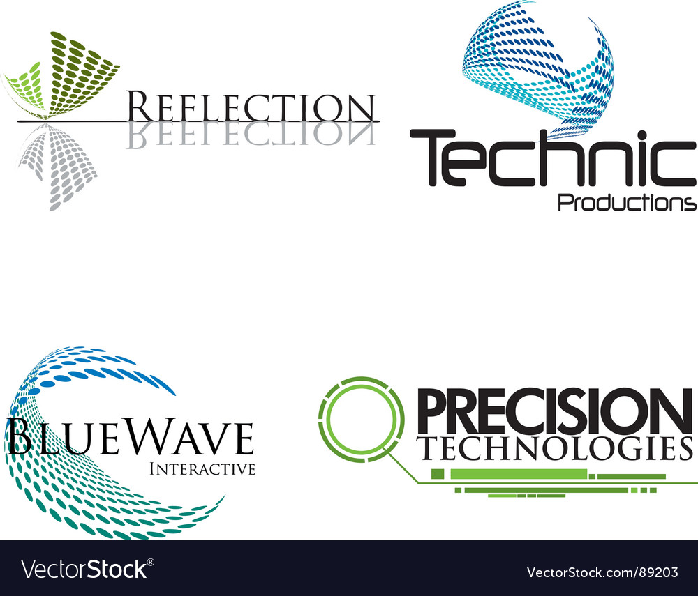 Technical logos Vector Image