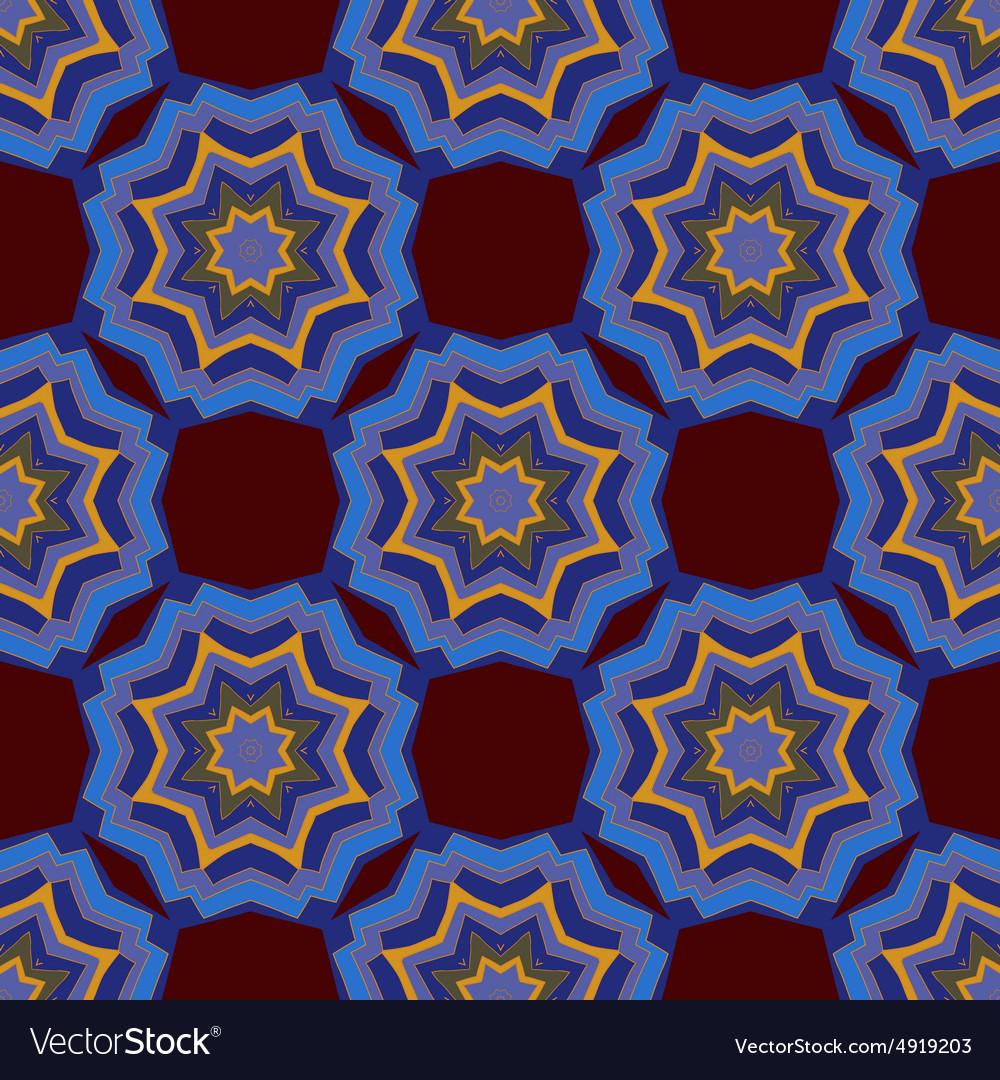 Seamless mandala ornament vector image