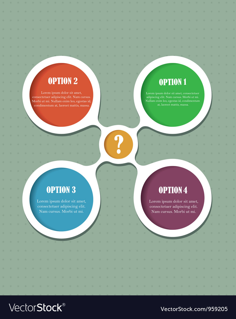 Abstract option bubbles vector image