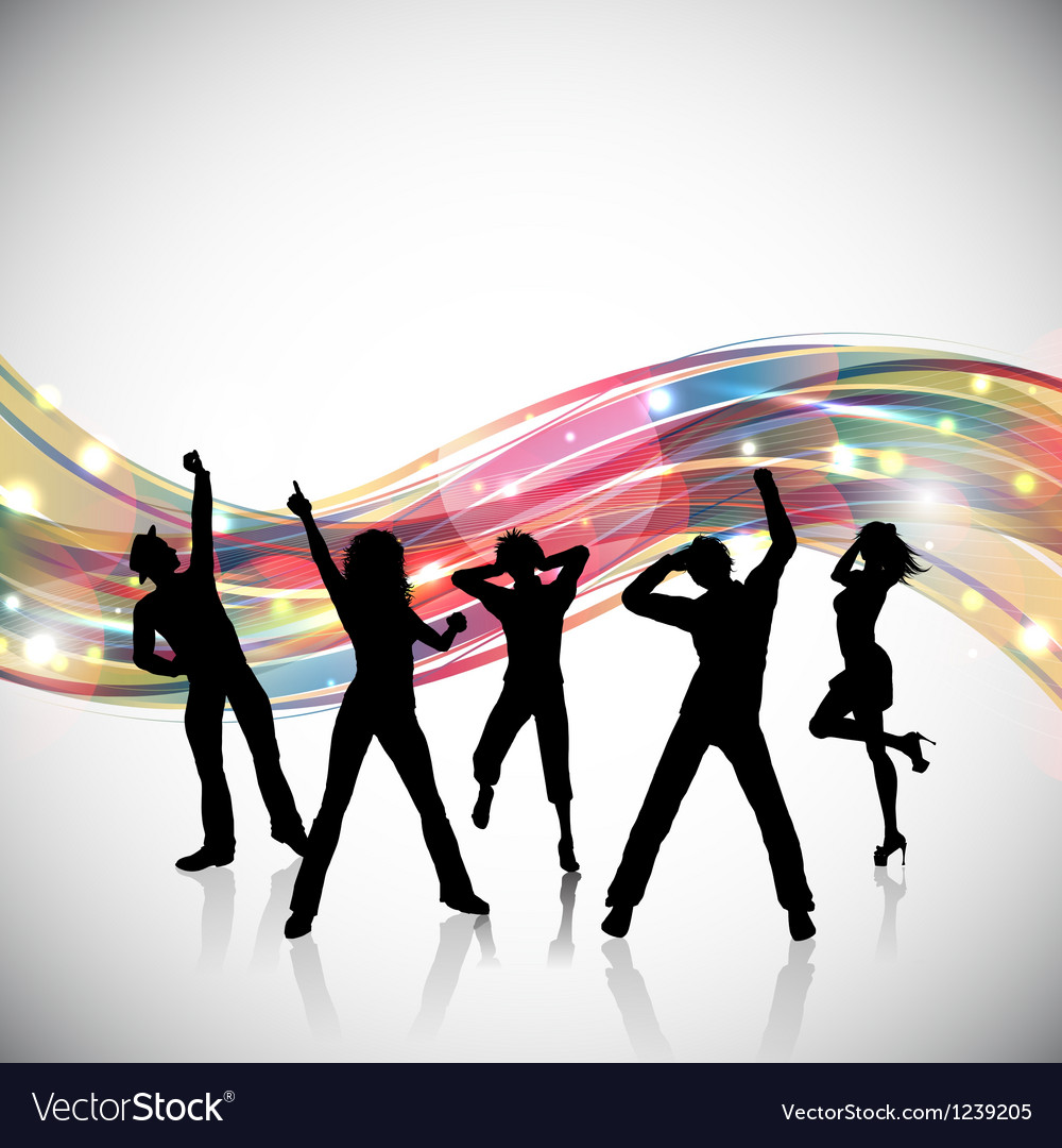 Party people background 0102 vector image