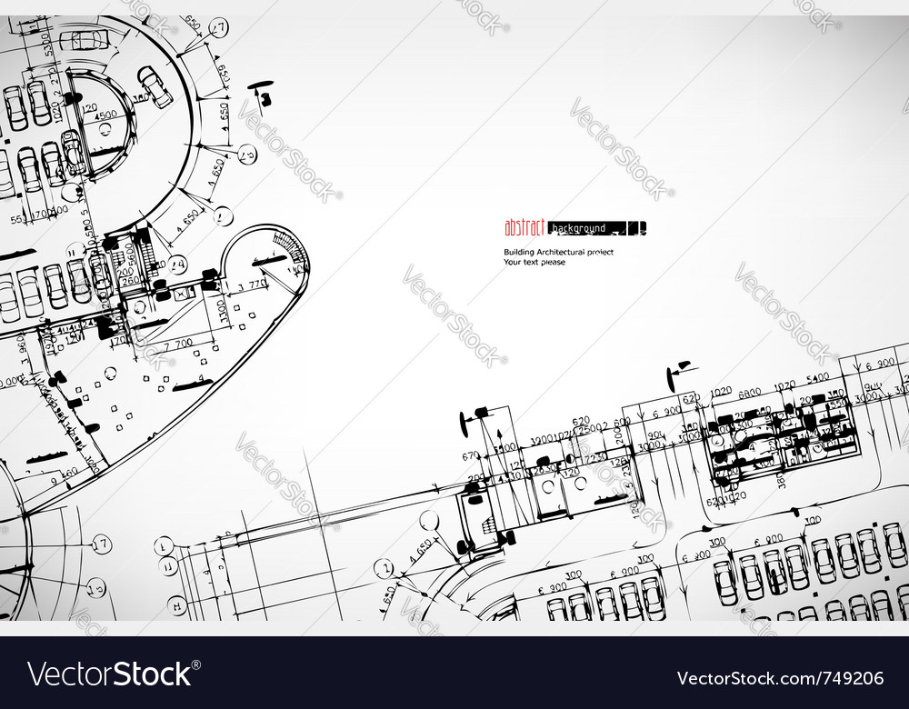 Background architectural sketches vector image