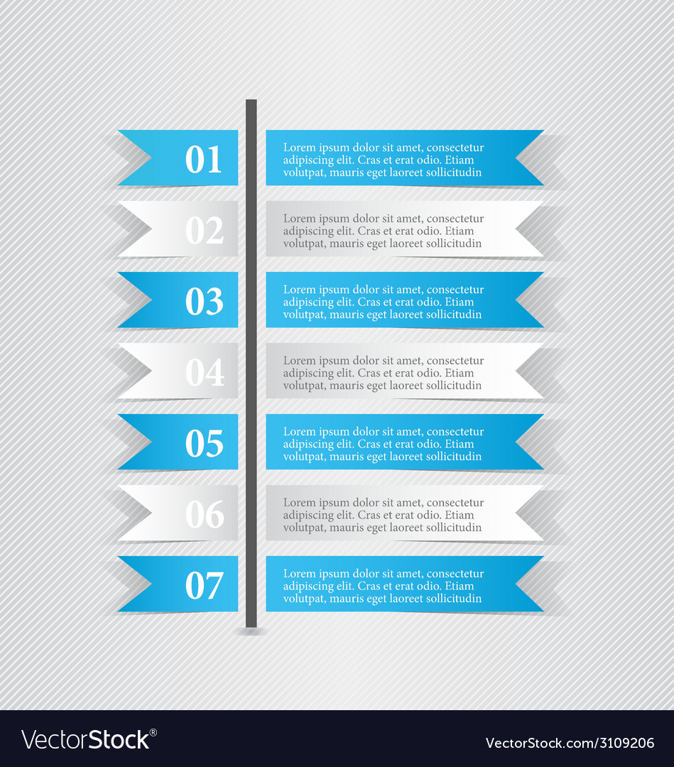 Modern infographic white and blue design template vector image