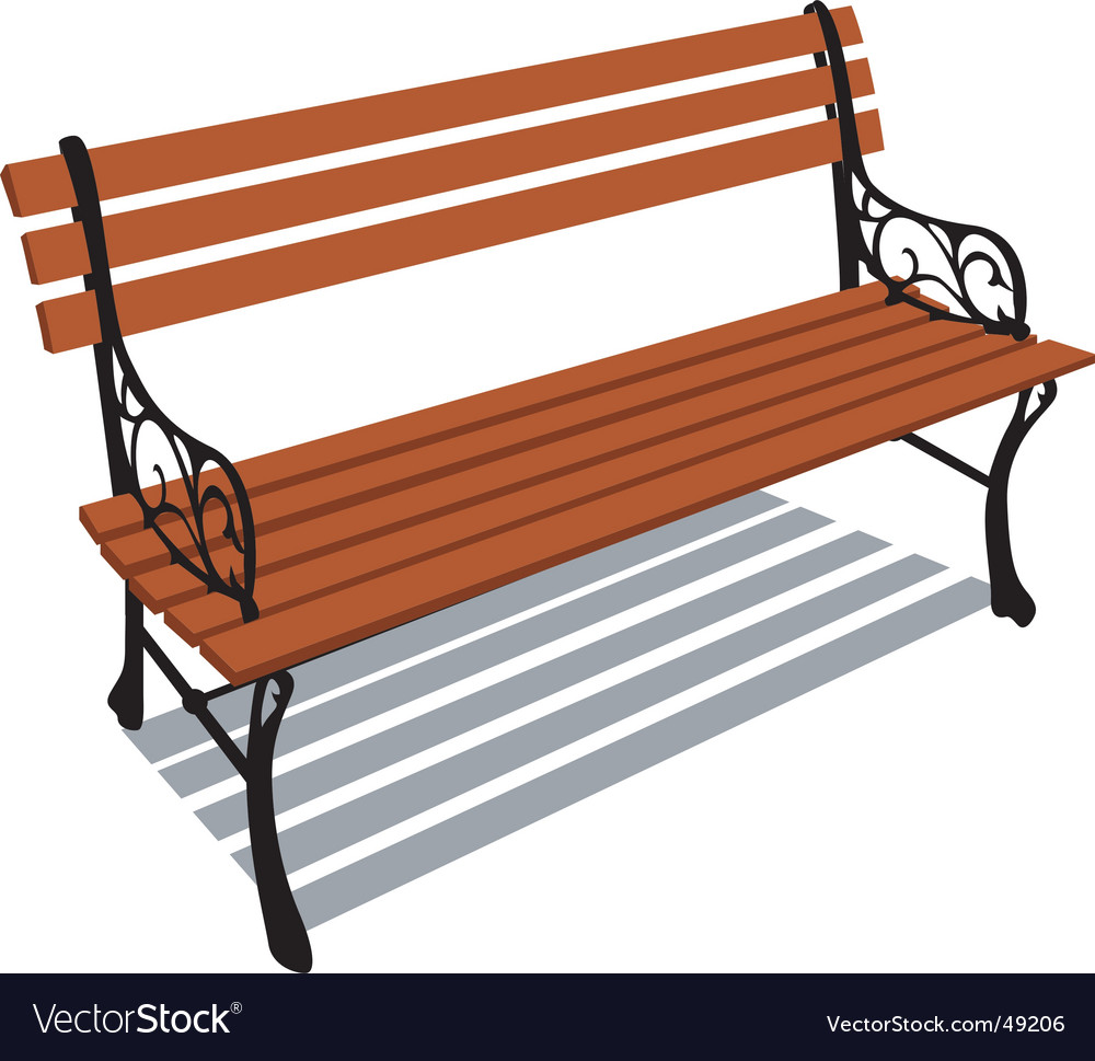 Lobby Bench Clip Art ~ Park bench royalty free vector image vectorstock