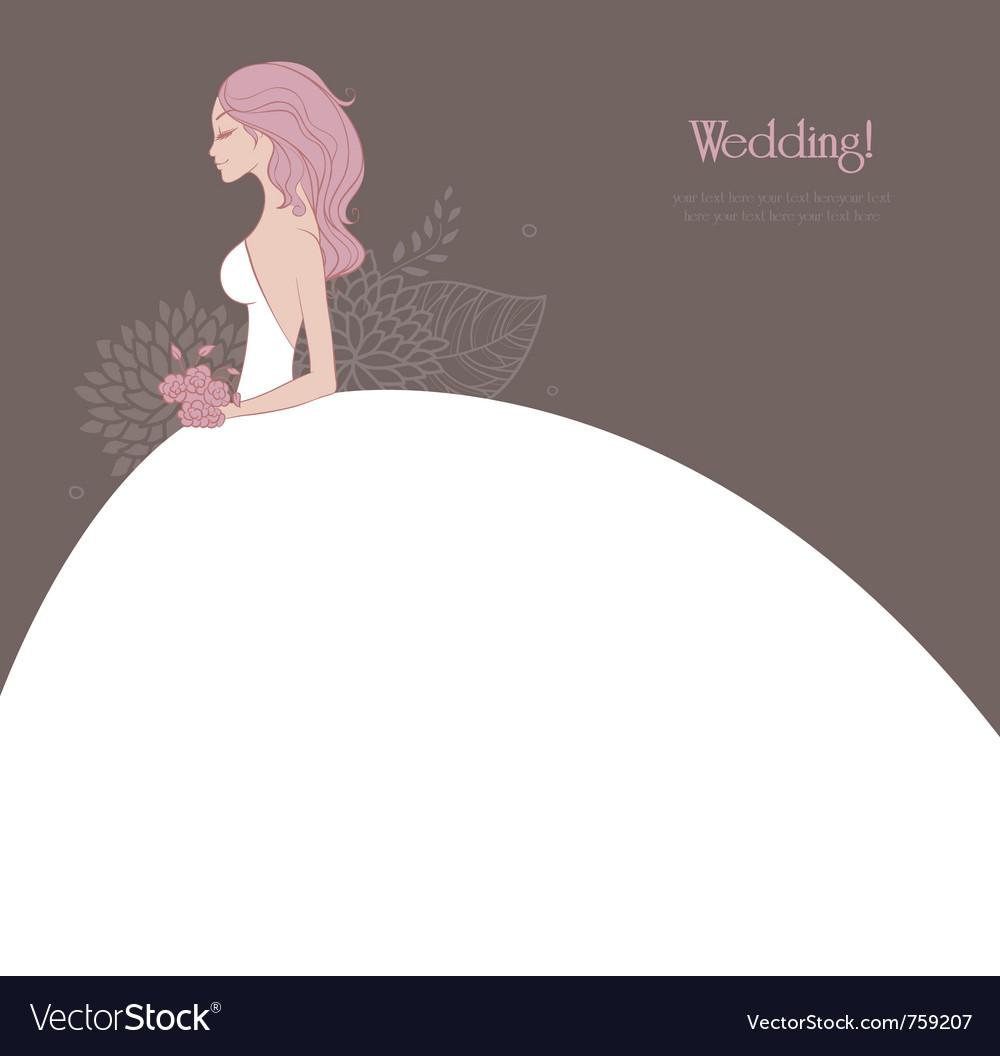 Bride pic vector image