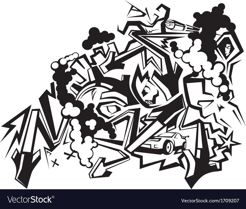 Graffiti Art 1 Royalty Free Vector Image