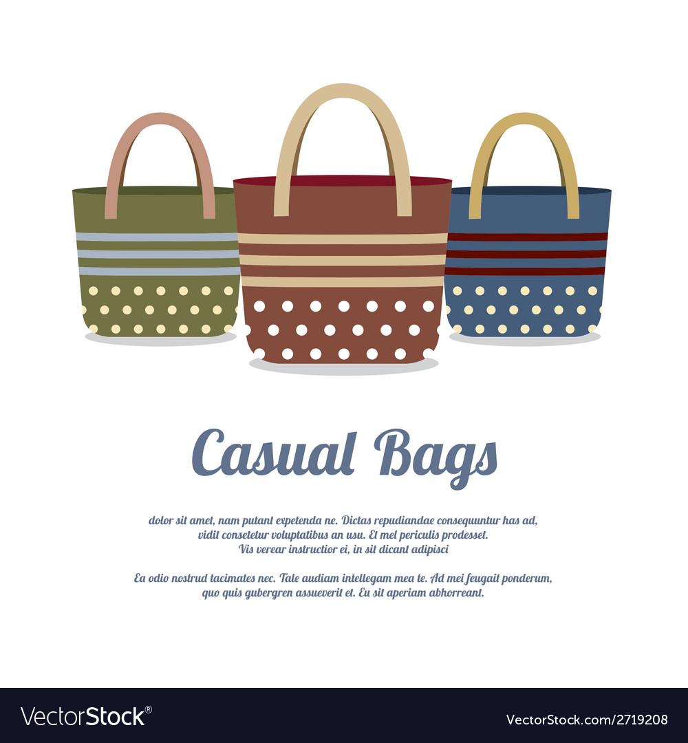 Set of Casual Handbags vector image