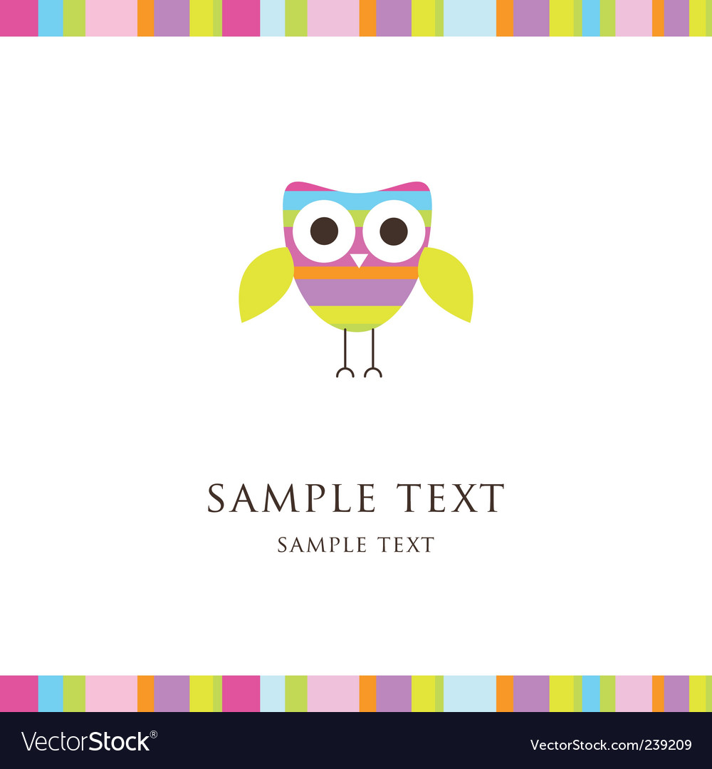 Colorful owl vector image