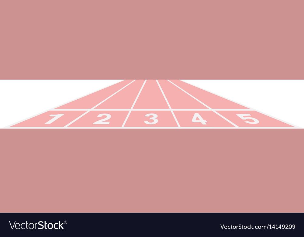 Running track in pink design vector image