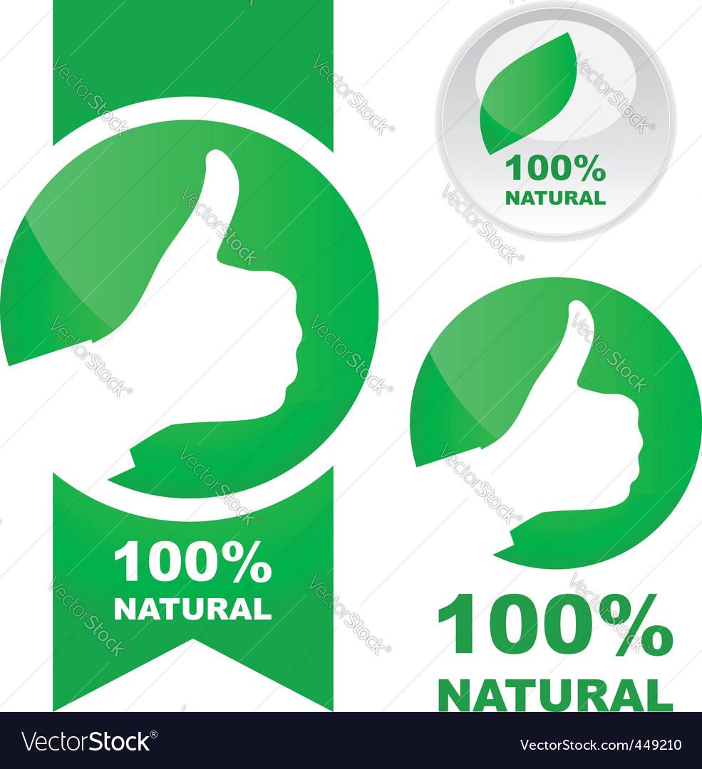 100 natural vector image
