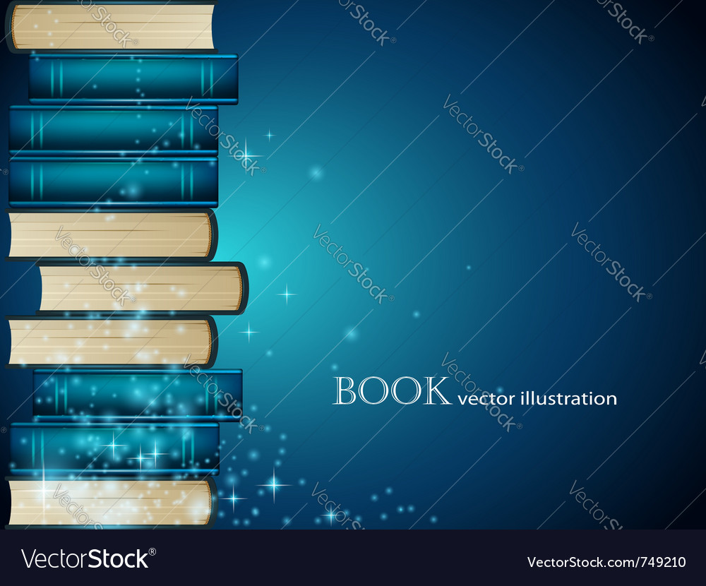 Book heap background vector image