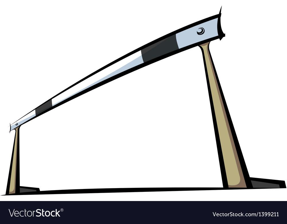 The hurdle vector image