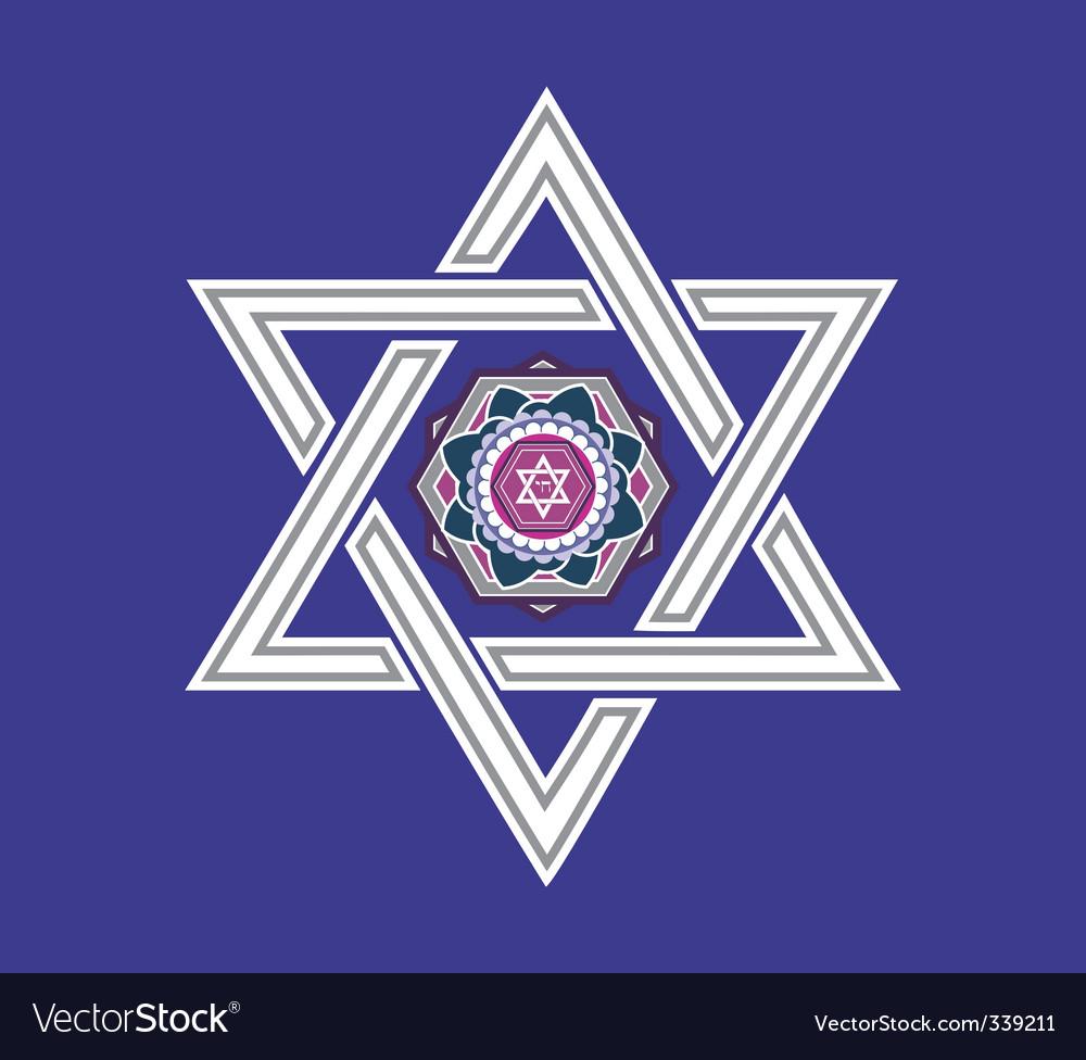 Jewish star design vector vector image
