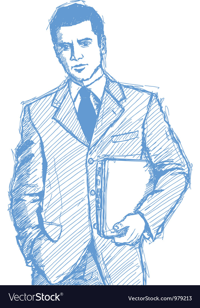 Businessman laptop vector image