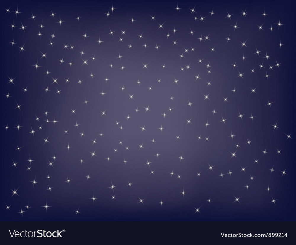 Starry background vector image