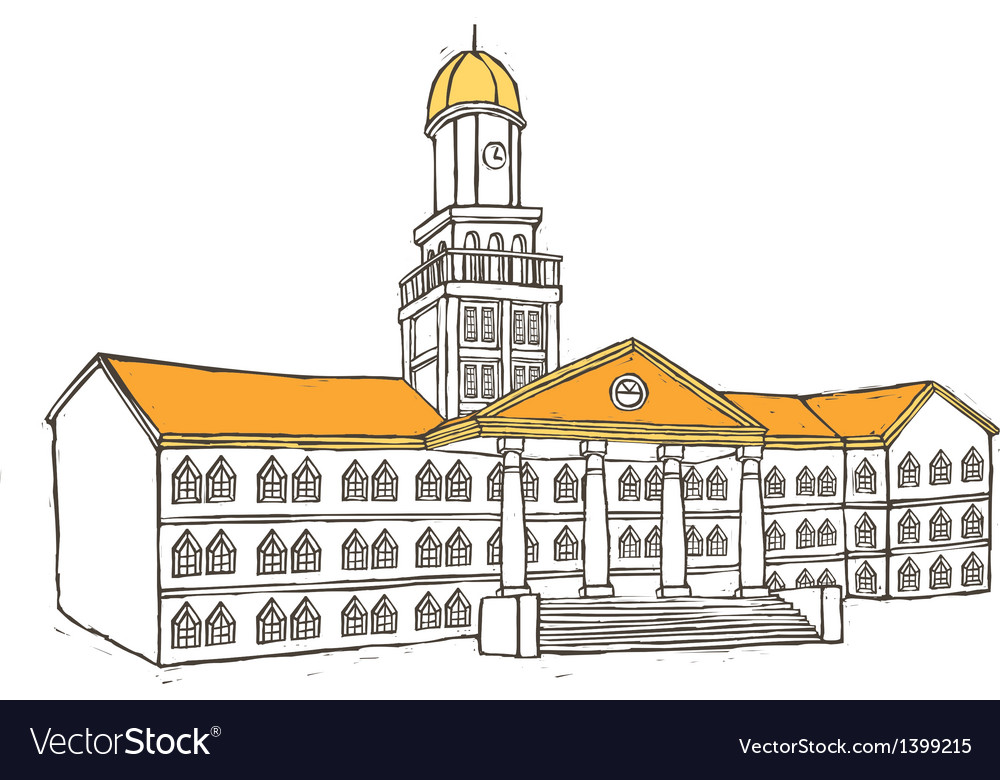 A city hall is placed vector image