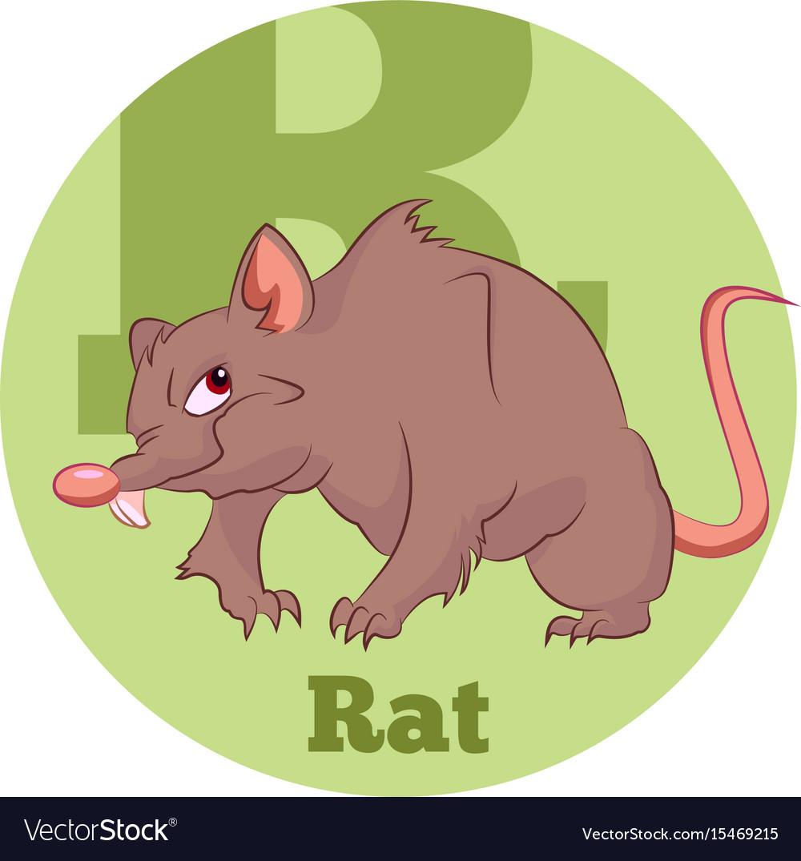 Abc cartoon rat vector image