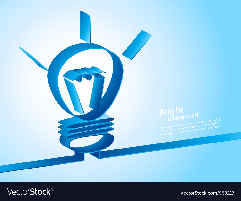 Background with lamp vector image