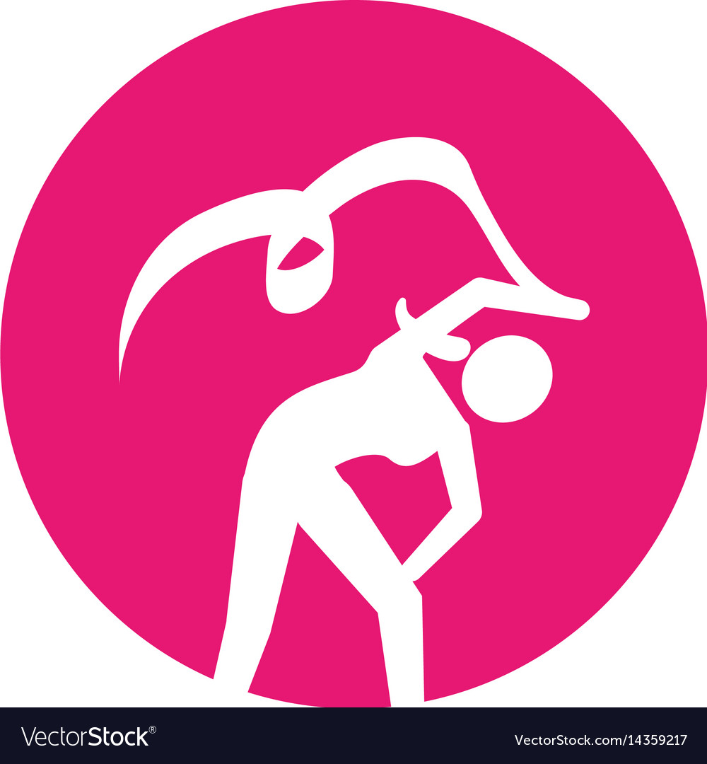 Woman silhouette dancing isolated icon vector image
