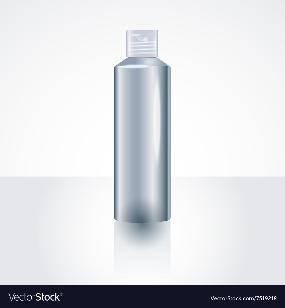 Plastic Shampoo Bottle Package MockUp Template vector image