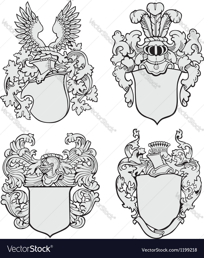 Set of aristocratic emblems No3 vector image