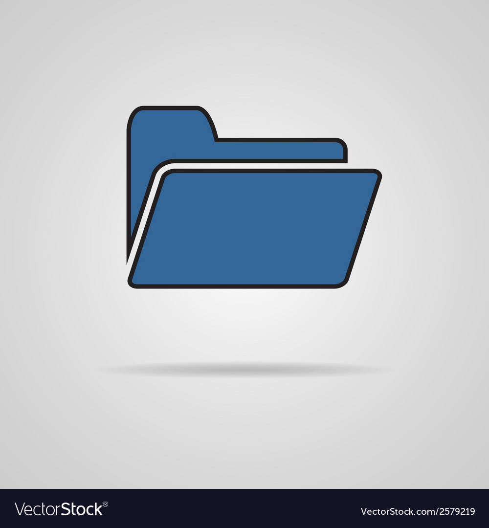 Folder icon with shadow EPS10 vector image