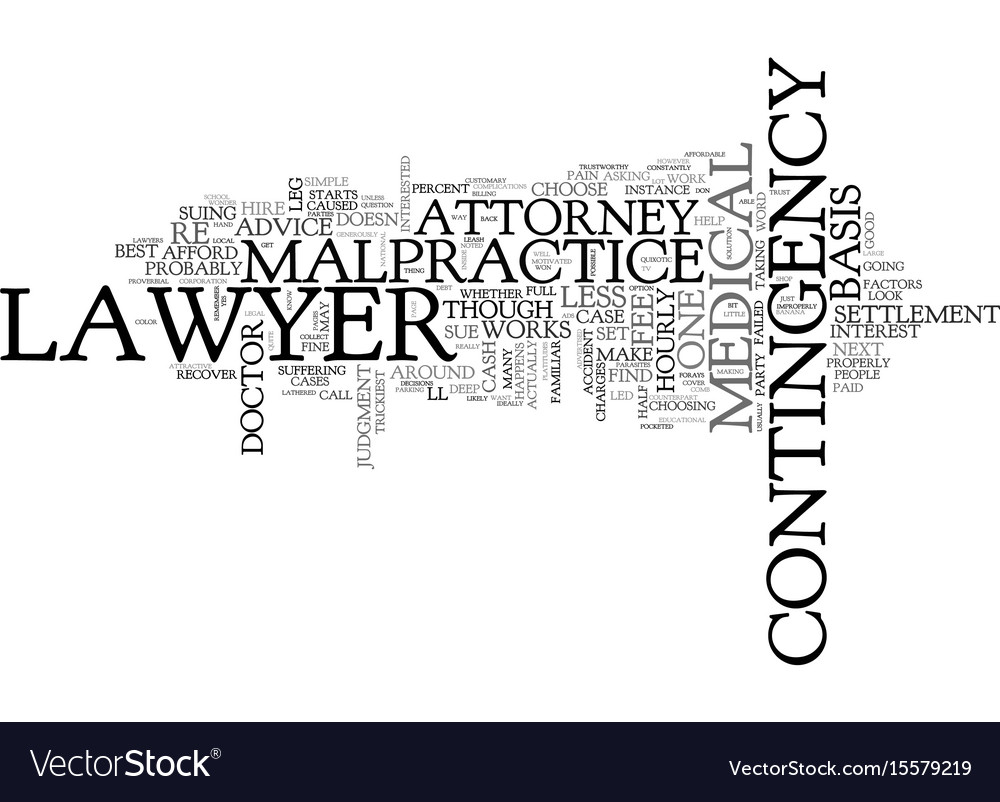 What kind of lawyer to hire in a case of medical vector image